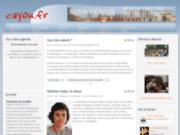 screenshot http://www.cayou.fr cayou.fr site des habitants de cailloux/fontaines