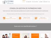 screenshot http://www.cedrepatrimoine.fr Gestion de patrimoine