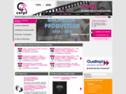 screenshot http://www.cefpf.com/ formation professionnelle et stage en cinéma, cefp
