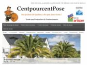 screenshot http://www.centpourcentpose.com/ centpourcentpose - bienvenue chez centpourcentpose ! vente et pose de menuiseries.