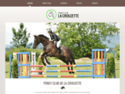 screenshot http://www.centre-equestre-lozere.fr poney club de la crouzette