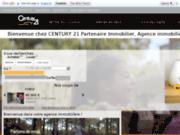 screenshot http://www.century21-partenaire-immo.com agence immobilière cugnaux.