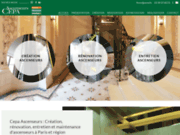 screenshot http://www.cepa-ascenseurs.fr/ cepa, fabrication et rénovation d'ascenseurs, ile de france