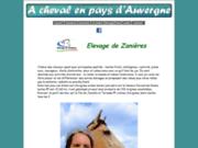 screenshot http://www.cezallier-cheval.fr à cheval en pays d'auvergne