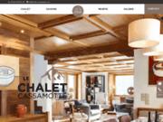 screenshot http://www.chalet-cassamotte.com/ chalet cassamotte - chalet en location à megève