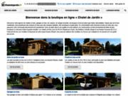 screenshot https://www.chaletdejardin.fr/ Chalet de Jardin