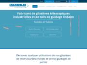 screenshot https://www.chambrelan.fr/ glissière télescopique