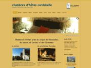 screenshot http://www.chambres-hotes-cardabelle.fr chambres d'hotes. cirque de navacelles, larzac