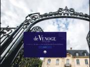 screenshot http://www.champagnedevenoge.com maison de champagne de venoge - epernay