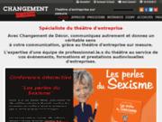 screenshot http://www.changementdedecor.fr l'art d'animer vos communications évènementielles
