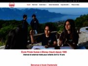 screenshot http://www.chantemerle.ch ecole internationale en suisse programme ecoles de france