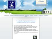 screenshot http://www.chapiteaux-lourdel.com/ création de chapiteaux et tentes à roquetoire