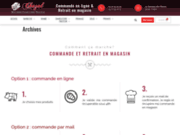 screenshot http://www.charcuterie-chazal.fr charcuterie chazal - vente en ligne