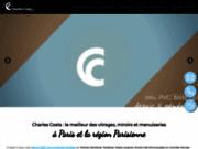screenshot http://www.charles-costa.fr/ vitrerie paris