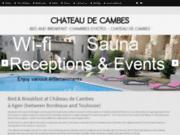 screenshot http://www.chateau-de-cambes.com/fr/ Chambres d'hotes au chateau de Cambes