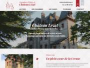 screenshot http://www.chateau-lezat.com/ chambres d'hôtes à La Souterraine 23300