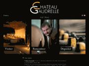 screenshot http://www.chateaugaudrelle.com/ vin de  vouvray: le château gaudrelle