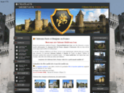 screenshot http://www.chateauxmedievaux.com les chateaux forts medievaux