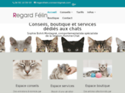 screenshot http://www.chats-et-hommes.fr comportementaliste chat
