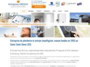 Plomberie : Entreprise GIROUX - Ile de France