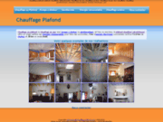 screenshot http://www.chauffage-plafond.com plafond chauffant rafraichissant et chauffage au mur