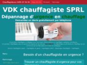 screenshot http://www.chauffagiste-lefevere.be/ plomberie, sanitaire à mouscron