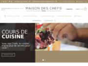 screenshot http://www.chefalamaison.fr cours oenologie paris