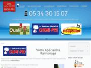 screenshot http://www.chemipro.fr chemipro, chemisage, débistrage et ramonage