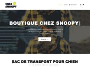 screenshot https://chezsnoopy.fr/ Boutique Chez Snoopy