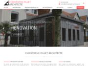 screenshot http://www.christophepillet-architecte.com Pillet Architecte
