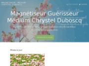 screenshot https://chrystel-duboscq-medium-magnetiseur.com/ Médium magnétiseur à distance en Aquitaine