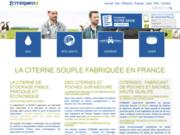screenshot http://www.citerneo-agriculture.fr Réservoirs souples pour le stockage agricole