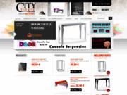 screenshot http://www.citysigner.com Vente de meubles et d'objets design en acier à petits prix