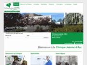 screenshot http://www.cja-luneville.fr clinique jeanne d'arc de lunévil