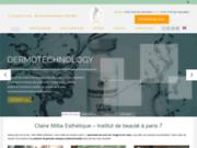 screenshot https://www.claire-millia-esthetique.fr/ Claire Millia - Esthéticienne à Paris