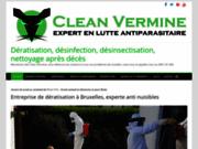 screenshot http://www.clean-vermine.be La dératisation passe par Clean Vermine, l'anti nuisibles, l'anti cafards.
