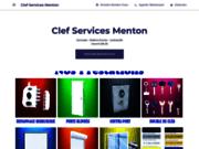 screenshot http://www.clef-services-menton.com Votre serrurier a Menton Clef Services