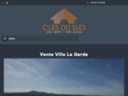 screenshot http://www.clesdusud.fr/ agence immobilière à la Garde