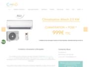screenshot https://climsud34.fr Climatisation à Montpellier : climSud34