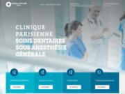 screenshot http://www.clinique-dentaire-paris.com clinique soins dentaires sous anesthesie generale