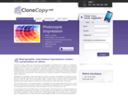 screenshot http://www.clonecopy.net/ imprimer, numériser, relier des documents 24h/24