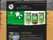 screenshot http://www.closdessentinelles.com hydromel oenologique : hydromel novateur