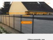 screenshot http://www.cloturecomposite.com Clôture en bois composite