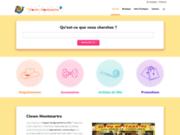 screenshot http://www.clown.fr au clown montmartreclown.fr: magasin de fêtedéguisement,masque,perruques,maquillages,cotillons,etc. à paris et de location de costume