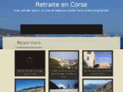 Hébergement club retraites Corse