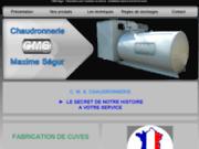 screenshot http://www.cms-segur.com cms ségur - fabrication de cuves et citernes