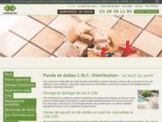 screenshot http://www.cnc-lehautdupave.com/ dallage extérieur bradstone et dalles manoir 59