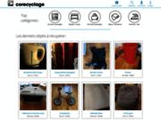 screenshot http://www.co-recyclage.com co-recyclage : donner et récupérer des objets gratuits, co-recyclez !