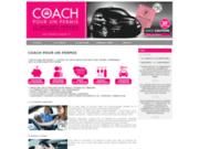 screenshot http://www.coachpourunpermis.fr coach pour un permis de conduire candidat libre