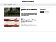 screenshot http://www.cocon-des-sens.com cocon des sens, le choix d'une santé naturelle.